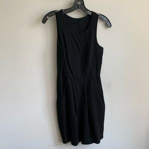 Theory black dress with pockets